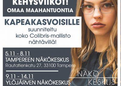 Kehysviikot Tampereen ja Ylöjärven Näkökeskuksissa