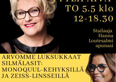 Tyylipäivä Tampereen Näkökeskuksessa to 5.3 klo 12-18.30