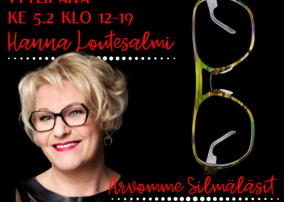 Tyylipäivä Tampereen Näkökeskuksessa ke 5.2 klo 12-19